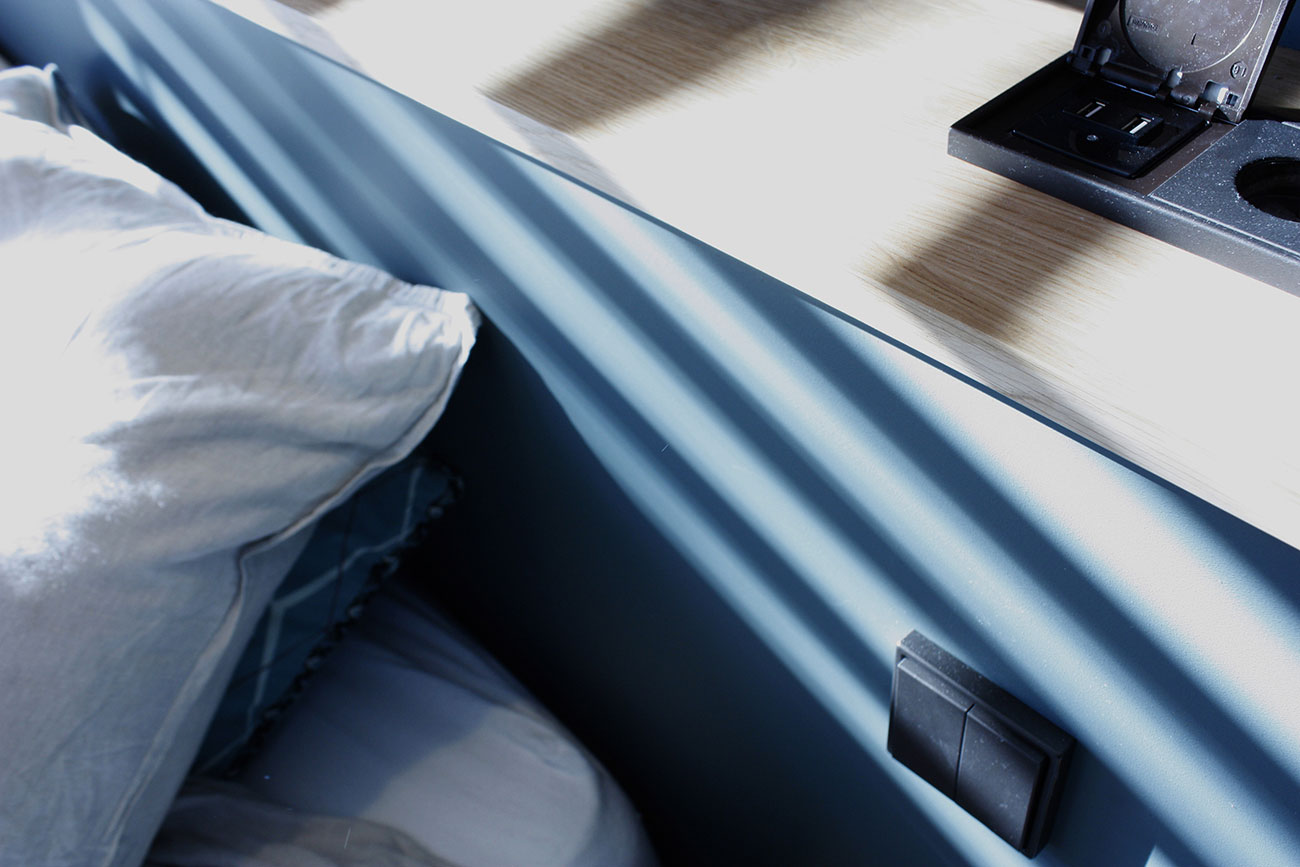 Connectiques pratiques en tête de lit